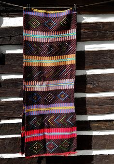 Vintage Wool Rug, Colorful Bright Runner Hallway Rug, Bohemian Boho Native Navajo Tribal Pattern; Vintage Rustic Farmhouse Modern Home Decor by harbor17 on Etsy