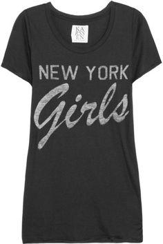 8799df4174d Zoe Karssen New York Girls cotton and modal-blend T-shirt  75 New York