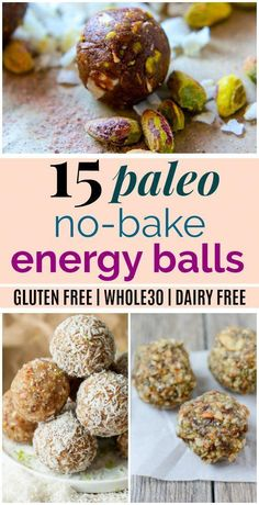 Paleo Menu, Paleo Dessert, Healthy Vegan Snacks, Easy Snacks, Paleo Snack Recipes, Whole30 Recipes, Easy Energy Bar Recipes, Easy Paleo Meals, Paleo Desert Recipes