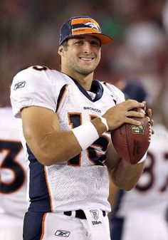 Tim Tebow. The PERFECT man. Admitted in an interview he was saving himself for marriage, what a great role model for young boys. He could have any woman he wants, but he chooses not to. Awesome.