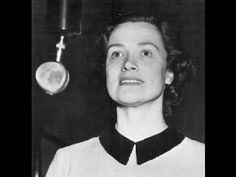 """Kathleen Ferrier singing """"Du Bist die Ruh"""" by Schubert"""