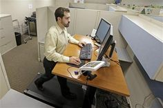 MORE AMERICANS EXERCISE WHILE THEY WORK