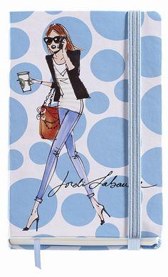 Jordi Labanda Small Bound Notebook-Coffee Dots