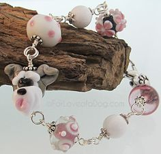 Oh, come on!  A handmade Schnauzer bracelet.......How cute is that!!!!  Love it!