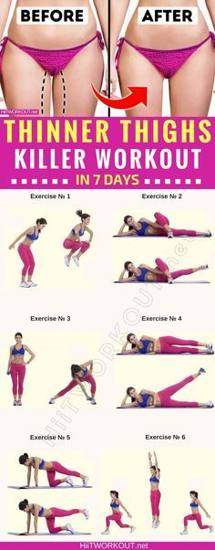7 Simple exercises to get thinner thighs in just 7 days. #workout #gym #fitness #bodyhiitworkout