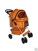 Classic Orange 4 Wheel Pet Stroller * New and awesome product awaits you, Read it now  (This is an amazon affiliate link. I may earn commission from it)
