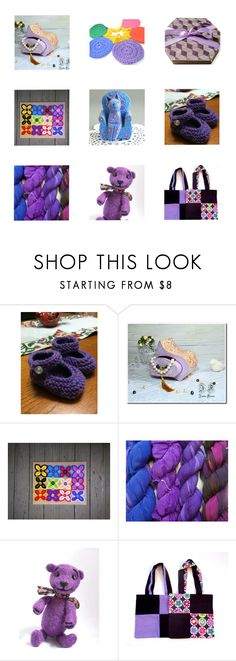 Pretty Purple Presents by fivefoot1designs on Polyvore