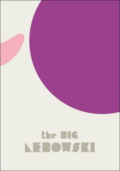 The Big Lebowsky. Minimalist Movie Poster