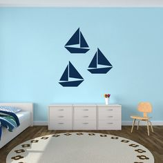 Sailboats Sports Wall Decals, Stickers