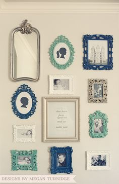 Vintage Photo Wall Collage