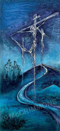 """Crucifixion Banner by Sr. Mary Stephen CRSS 46"""" x 24"""" £156.00 ref. BAN555"""