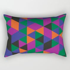 "Our Rectangular Pillow is the ultimate decorative accent to any room. Made from 100% spun polyester poplin fabric, these ""lumbar"" pillows feature a double-sided print and are finished with a concealed zipper for an ideal contemporary look. Includes faux down insert. Available in small, medium, large and x-large."