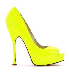 Brian Atwood Yvesse Patent Leather-Peep Toe