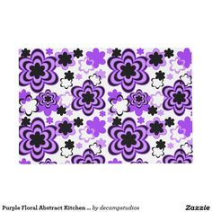 Purple Floral Abstract Kitchen Table Placemat