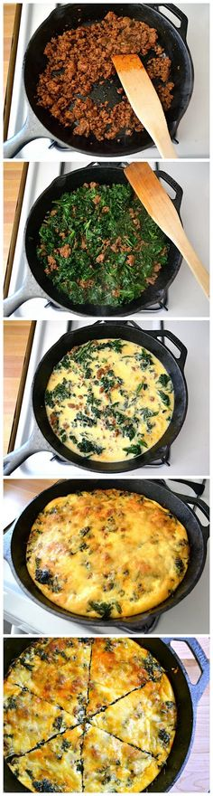 ... on Pinterest | Kale frittata, Chorizo frittata and Easy french toast