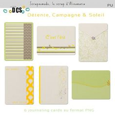 Free Journal Cards {part of the Relaxing Countryside and Sun Collab} from Alinamaria