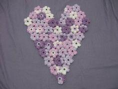 Flower Puff Heart - Crochet Tutorial