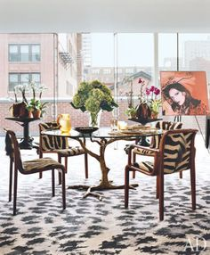 How does she manage to make it look funky, eclectic, but also classy???? Brunch at Saks: Diane von Furstenberg's New York Apartment
