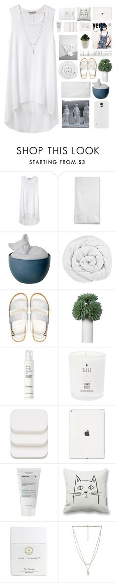 """Untitled #2356"" by tacoxcat ❤ liked on Polyvore featuring Helmut by Helmut Lang, Imm Living, The Fine Bedding Company, ASOS, This Works, COVERGIRL, Korres and Forever 21"