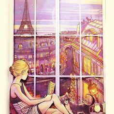 nada como un buen libro en paris <3