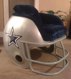 Gentil A Chair Helmet. #EsuranceFantasyTailgate Wrong Team But Great Idea. Dallas  Cowboys ...