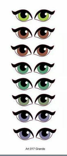 Ojos Cartoon Eyes, Cartoon Drawings, Doll Eyes, Doll Face, Craft Eyes, Flower Pot People, Eye Stickers, Clay Pot Crafts, Scrapbook Embellishments