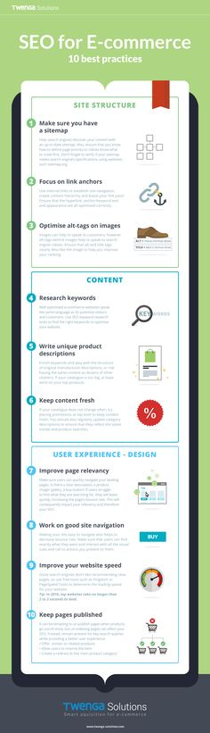 Infographic - Improve SEO for online shops | #seo #ecommerce