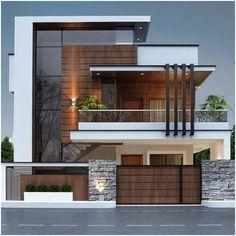House Outside Design, House Gate Design, Bungalow House Design, House Front Design, Small House Design, Best Modern House Design, Modern Exterior House Designs, Design Exterior, Dream House Exterior