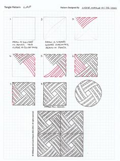 Lap  |  tangle pattern by Lizzie Mayne June 2012 flickr