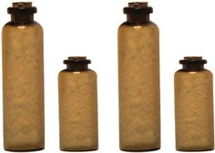 Amazon.com: 7gypsies 4-Piece Apothecary Bottles, Amber: Home & Kitchen
