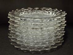 "crystal dinnerware | Retro Art Glass: Fostoria American Crystal 8"" Plate Set of Eight"
