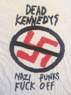 true vintage #80s dead kennedys nazi punks fk off t shirt  punk rock from $149.99