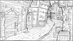 Environment Sketch, Environment Design, Game Design, Set Design, Film D'animation, Animation Background, 2d Art, Environmental Art, Conceptual Art