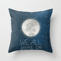 Shine On Throw Pillow by Lisa Barbero - $20.00