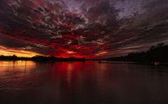 Elusive sunset, Auckland, New Zealand by stewartbaird, via Flickr