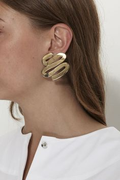 LUINY, Smith Earrings, Brass |