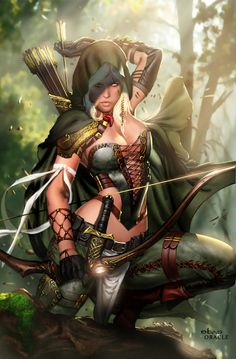 Art about fantasy, steampunk, comics, sci-fi and other lands of dreams. Fantasy Warrior, Fantasy Girl, Chica Fantasy, Warrior Girl, Fantasy Women, Elfen Fantasy, Fantasy Anime, 3d Fantasy, Fantasy Kunst