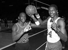 ThrowbackHoops — 1984   Michael Jordan & Hakeem Olajuwon