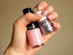 #pastel #nails #glitter