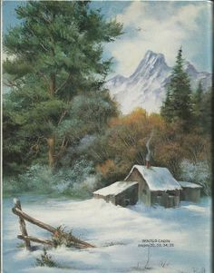 Acrylic Painting Tips, China Painting, Winter Painting, Winter Art, Snow Scenes, Winter Scenes, Turkey Drawing, Art Thomas, Bob Ross Paintings