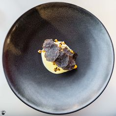 Slow cooked heirloom pumpkin, Bruny Island C2 cream, Manjimup truffle, roasted seeds  Bennelong Restaurant Sydney Opera House