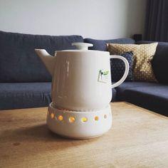 Met onze theepot en theelicht samen kan je lekker lang van je thee genieten. Ideaal voor de knusse avonden. Leuke foto Mariëlle!