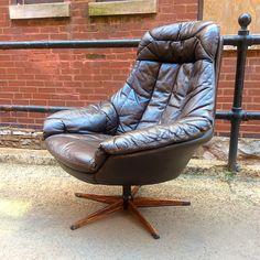 #DanishModern #HWKlein For #Bramin #Leather #Chair -All info @ www.RocketCentury.com
