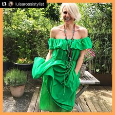 Stunning in lively green, wearing our 💚 thank you for the post 🙏🏼 . Hippie Chic, Bohemian Style, Fashion Jewellery, Boho Fashion, Green Style, Beach Towel, Stylists, Boutique, Instagram Posts