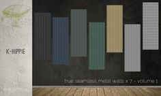 Mod The Sims - 7 Metal Walls - true seamless - volume 1 & 2