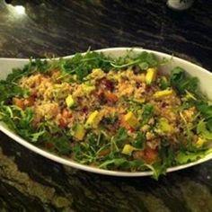 Quinoa Salad with Grapefruit, Avocado, and Arugula