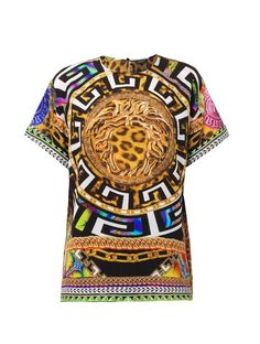 Versace Medusa and leopard-print silk top on shopstyle.com