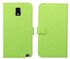 Amazon.com: myLife Spring Green {Classy Design} Faux Leather (Card, Cash and ID Holder + Magnetic Closing) Slim Wallet for Galaxy Note 3 Sma...