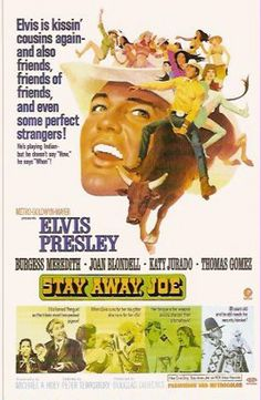 In Stay Away, Joe, Elvis Presley plays the prodigal son of an American Indian family who returns to the reservation for a non-stop party of brawling and girl-chasing 1960s Movies, Old Movies, Vintage Movies, Elvis Presley Movies, Elvis Presley Photos, Movie Poster Art, Film Posters, Film Movie, Comedy Film