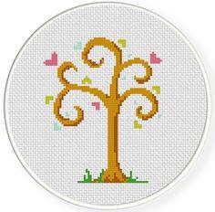 FREE Love Tree Cross Stitch Pattern